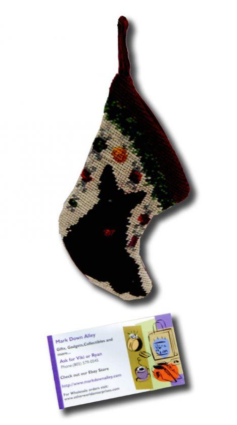 stocking needle point christmas xmas seasonal puppy lovers sk 816xs
