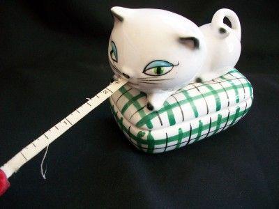 VINTAGE 1958 HOLT HOWARD COZY KITTEN KITTY CAT MEASURING TAPE PIN DISH
