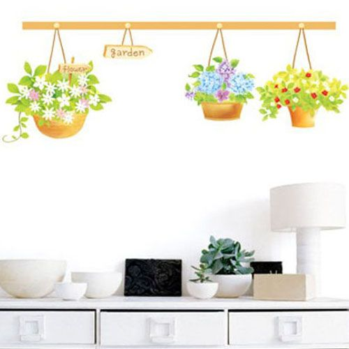 Flower Garden Deco Mural Art Wall Paper Sticker SWST 19
