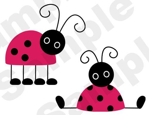 LADYBUGS LADY BUGS PINK RED NURSERY BABY GIRL CHILDRENS WALL ART