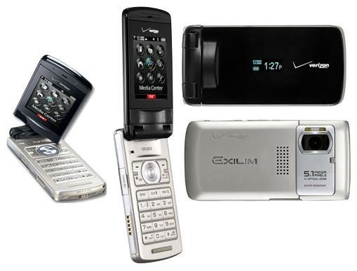 EXILIM C721 VERIZON CAMERA CELL FLIP PHONE CDMA 5.1MP CELLULAR C 721