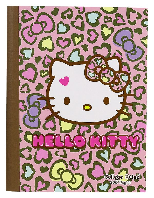 SANRIO HELLO KITTY COMPOSITION NOTE BOOK NOTEBOOK LEOPARD 200 PAGES